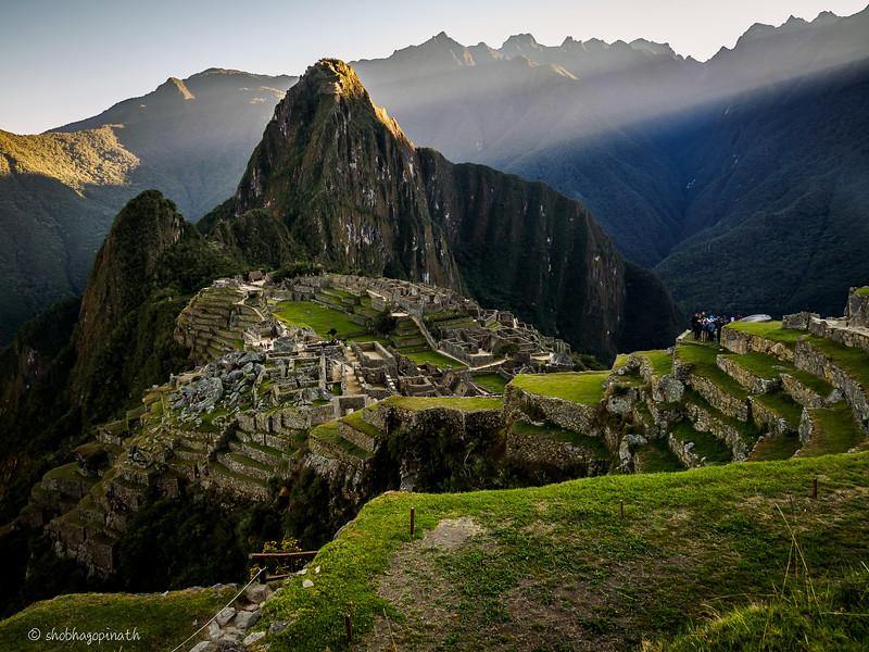 Morning at the ruins of Machu Picchu