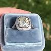 2.85ct Antique Cushion Cut Diamond Halo Ring 6