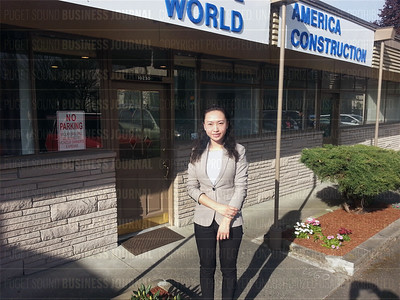 Lili Lu of Create World is pictured at her company headquarters in Bellevue, Washington