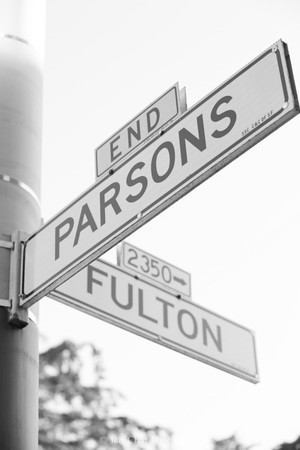 Fulton / Parsons Street Sign Project 4.13.15