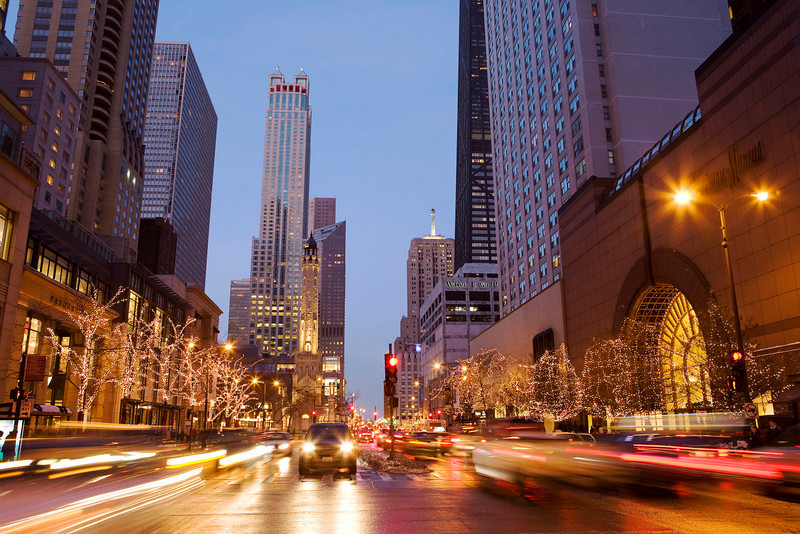 Holiday season on Michigan Avenue