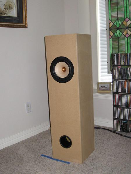 The Brines Acoustics TT-2000 single driver MLTL using the new Tang Band W1772 full range driver.