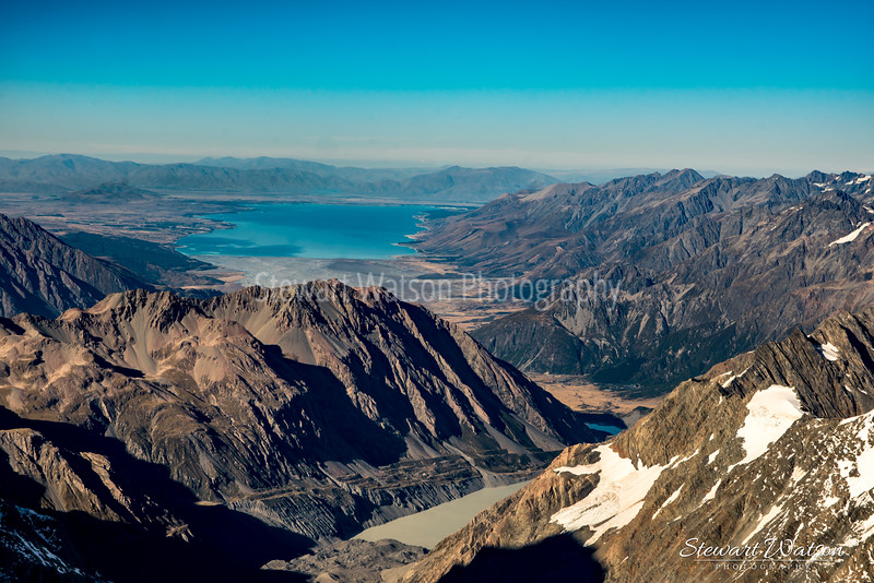 Lake Pukaki from above the Alps