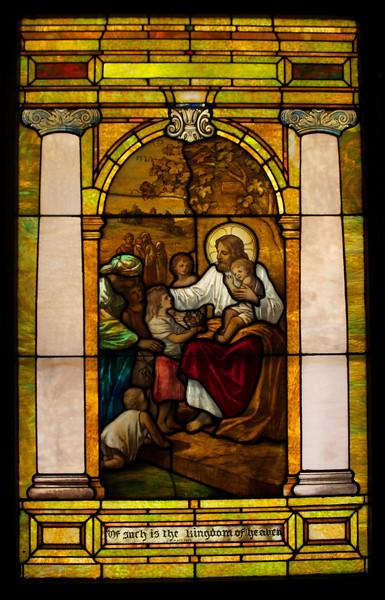 Jesus blesses the little children.