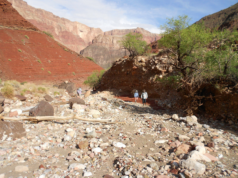 Hiking up Lava Canyon.  We camped at this site in 2012, but did not hike the canyon.  We are glad we did this time!