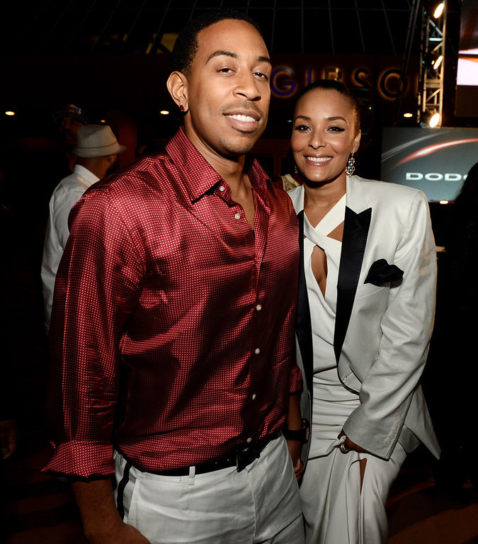". Actor/rapper Chris \'Ludacris\' Bridges and his girlfriend Eudoxie arrive at the after party for the premiere of Universal Pictures\' ""Fast & Furious 6\"" at the Gibson Amphitheatre on May 21, 2013 in Universal City, California.  (Photo by Kevin Winter/Getty Images)"