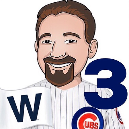 ♫♫. Three is a magic number, Yes it is, it's a magic number. Somewhere in ancient mystic trinity, You get three as a magic number. ♫♫. #GoCubsGo