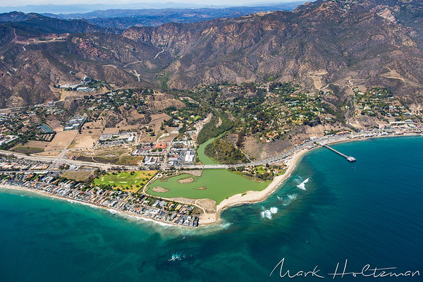 Flying Over Malibu and the Getty Villa