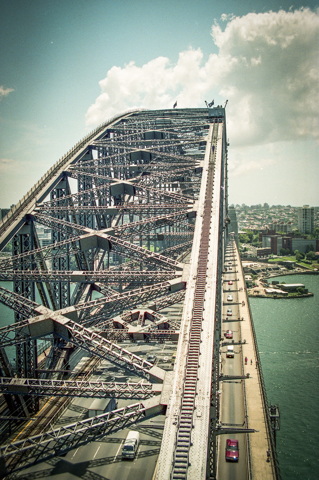 Sydney, Australia<br /> View from the Sydney Harbour Bridge pylon.