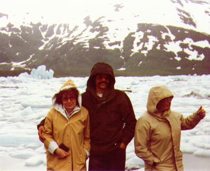 Bonnie, Dave, Connie, Portage Glacier, July 1980.jpg
