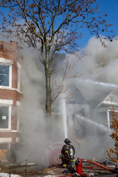 2-11 Alarm Mayday Response 4828 W.  Van Buren January 2018