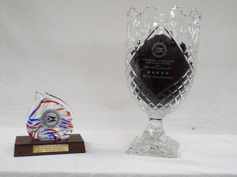 Awards won at the 2018 Port Huron International Boat Show.