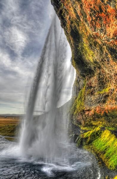 Seljalandfoss - from behind