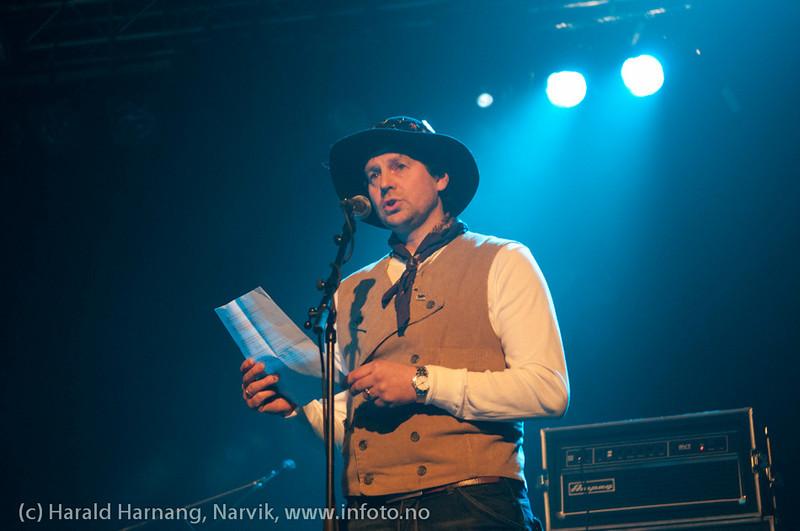 Åpningsseremoni og åpningskonsert på Nordkraft Arena. Styreleder i Nordkraft Arena, Børge Klingan.