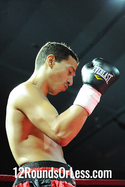 Bout 3( Pro 2) Billy Hutchinson, Pittsburgh -vs- Jose Caraballo, Pittsburgh,  Jr. Welterweight