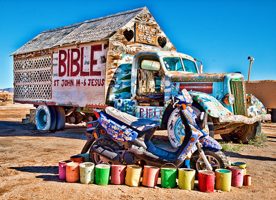 Salvation Mountain, East Jesus, Bombay Beach