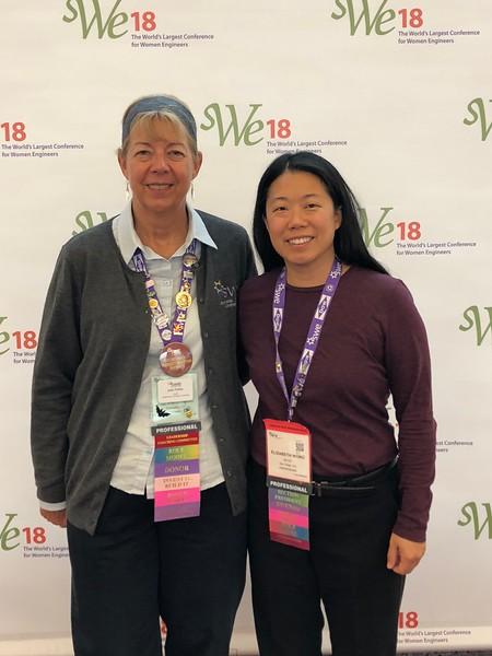 FY19 SWE-SD officers attending WE18:  Treasurer (Joan Fisher) and President (Liz Wong)