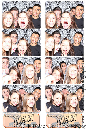 KHS Sadies goes Safari March 9 2012- The Photo Booth Strips