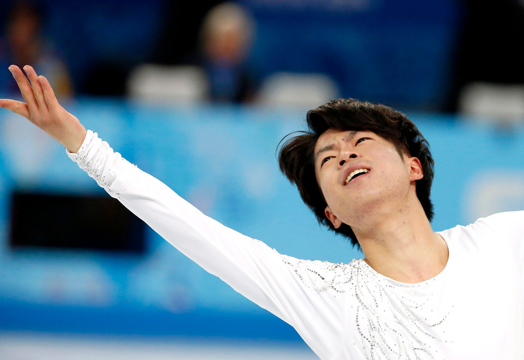 . Tatsuki Machida of Japan performs during the Men\'s Short Program of the Figure Skating event at the Iceberg Palace during the Sochi 2014 Olympic Games, Sochi, Russia, 13 February 2014.  EPA/BARBARA WALTON