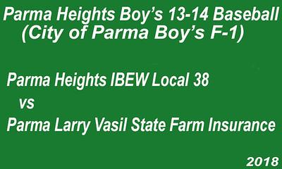 180626 Parma Heights Boy's 13-14 Baseball