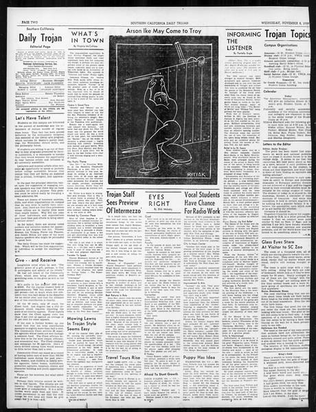 Daily Trojan, Vol. 31, No. 38, November 08, 1939