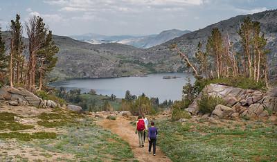 lake winnemucca trail in july