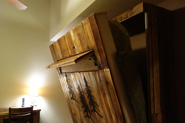 Opening the Murphy Bed