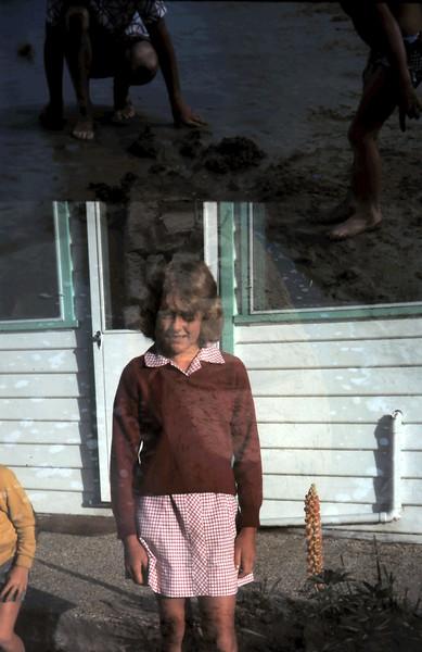 1977-2 (21a) Susan 11 yrs 6 mths, 1st day @ High School.JPG