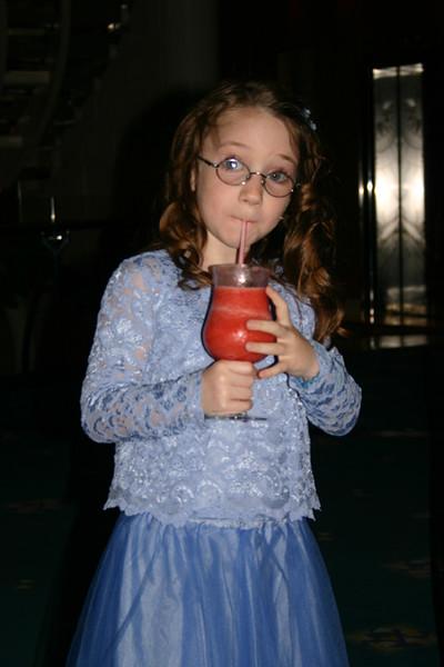 And Natalia enjoys a frappe