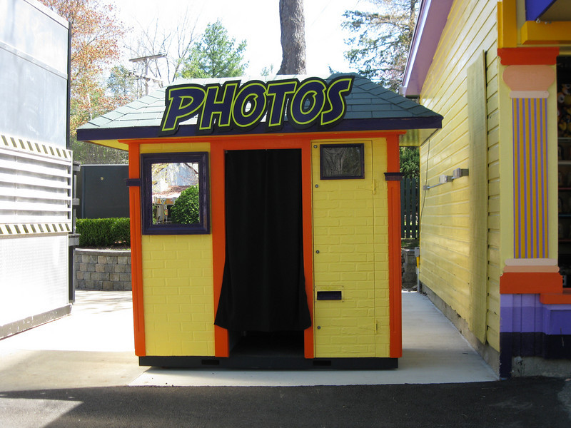 A photo booth is now in the Airball/Giant Lighthouse area.