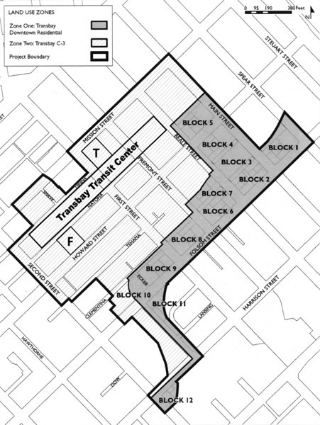 Transbay zoning map