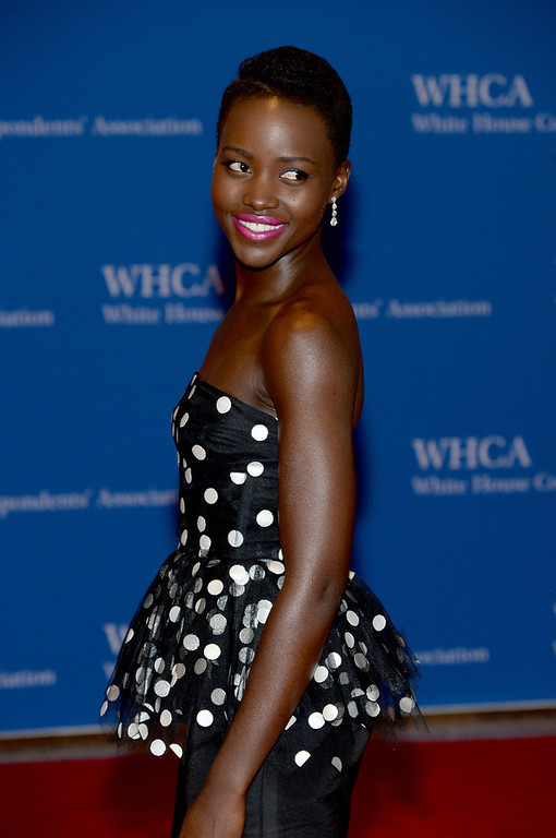 . Actress Lupita Nyong\'o attends the 100th Annual White House Correspondents\' Association Dinner at the Washington Hilton on May 3, 2014 in Washington, DC.  (Photo by Dimitrios Kambouris/Getty Images)
