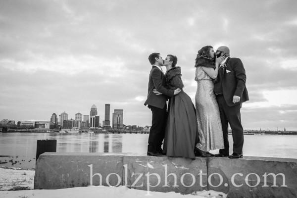 Ellie & Michael B/W Wedding Photos