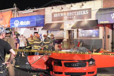 Franklin Square F.D. MVA Car Into Building  Franklin Ave. 6/24/17
