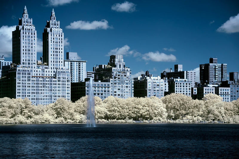 Central park Reservoir Infrared