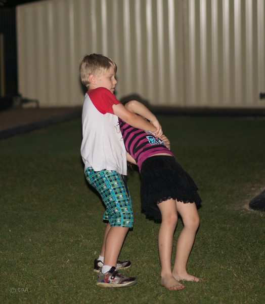 Isaac and Emma doing there dance routine