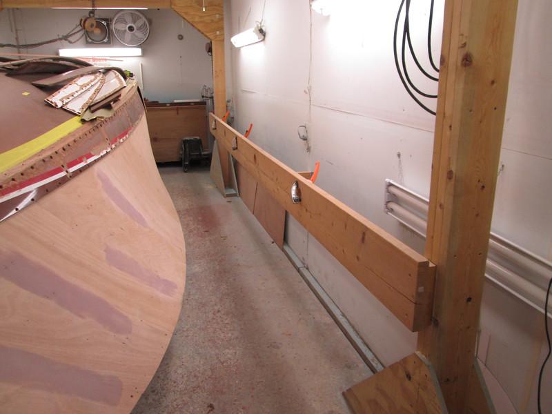 Planking jig set up.