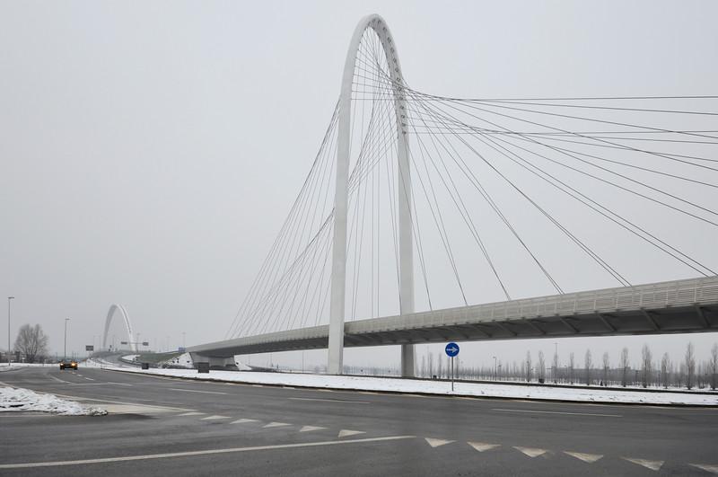 Vele di Calatrava (North Bridge) - Reggio Emilia, Italy - Januray 30, 2010