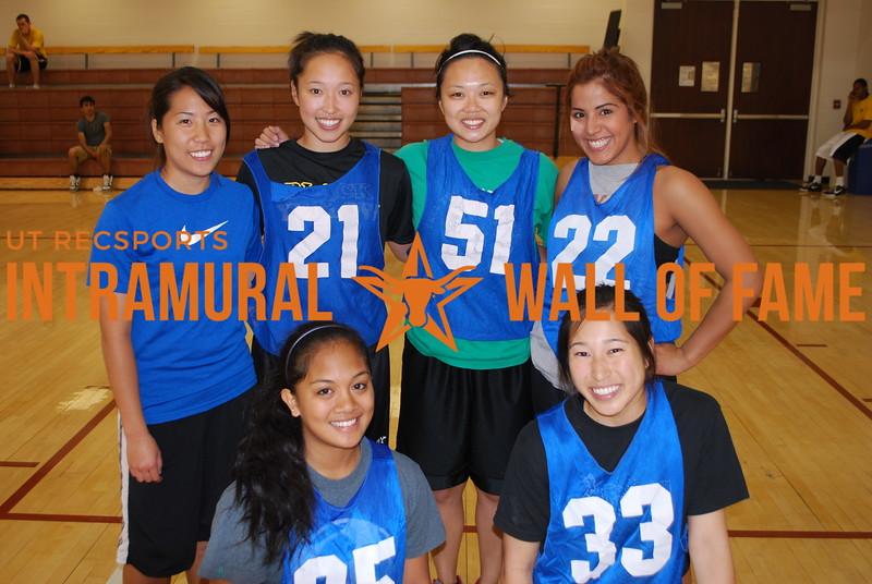 BASKETBALL Women's Runner Up  GET SOME  R1: Katrina Funtanilla, Janet Shu  R2: Michelle Shu, Iris Wong, Grace Chiang, Margarita Barron