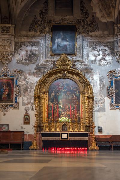 Lienzo de las Ánimas (Canvas of the Souls), painting by Vicente Alanís (circa 1775), aisle of the Magdalena church, Seville, Spain.