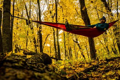 Enjoying Fall at Jay's Cabin
