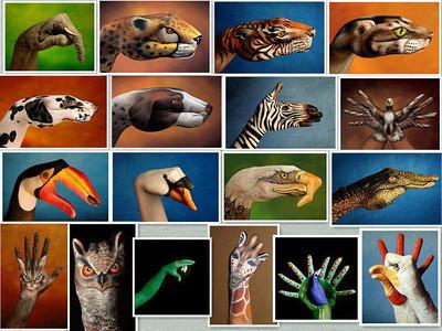 """Hand"" painted animals"