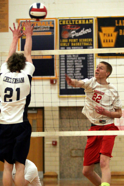 Souderton at Cheltenham boys volleyball
