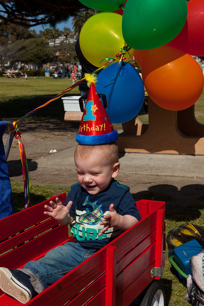 Aiden's First Birthday Party @ La Jolla Shores 2012-04-15