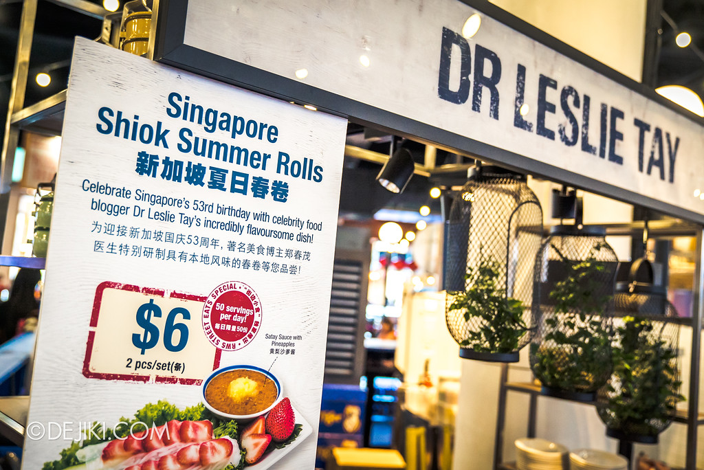 RWS Street Eats 2018 - Dr Leslie Tay's stall
