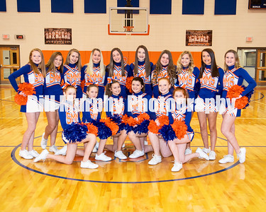 2019 - 2020 South Marshall Middle School Cheerleaders