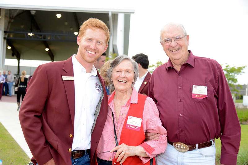 Scott Bradshaw '16, Barbara Burnett, Duke Burnett '60
