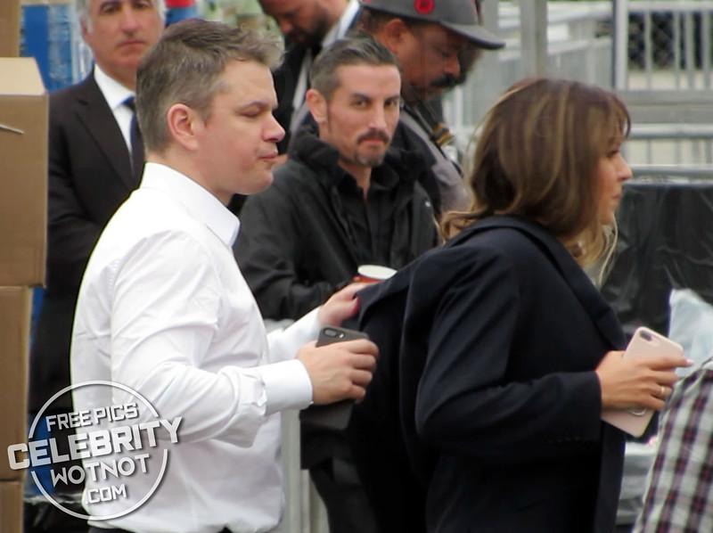 EXCLUSIVE: Matt Damon Is The Perfect Gentleman Taking Off Jacket To Keep His Wife Luciana Barroso Warm!