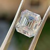 3.10ct Vintage Emerald Cut Diamond, GIA H VS1 31