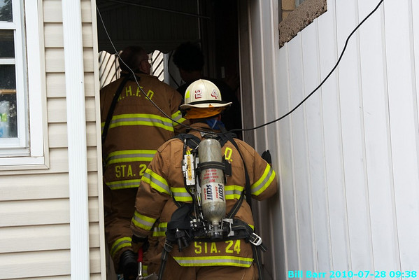 Electrical Fire, West hazleton, 7/28/10